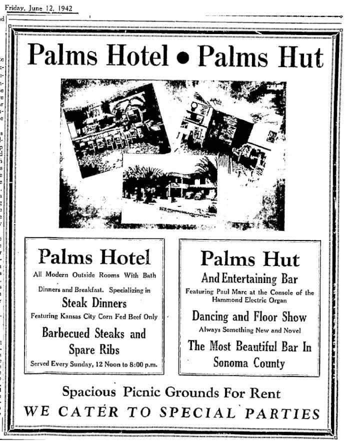 PalmsHotelAdPaulM1942