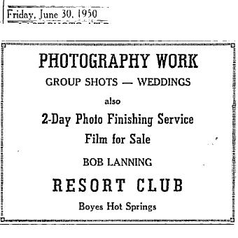 BobLanningPhotographerad1950