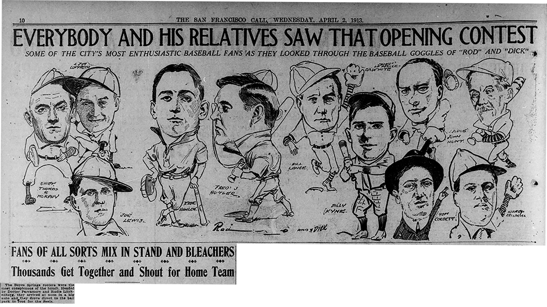 OpeningDay1913Characetures
